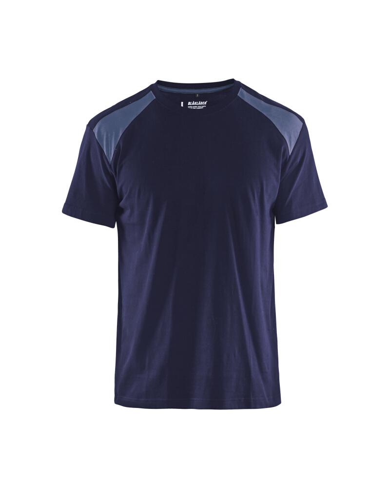 T-Shirt 2-färgad Blåkläder Marinblå/grå