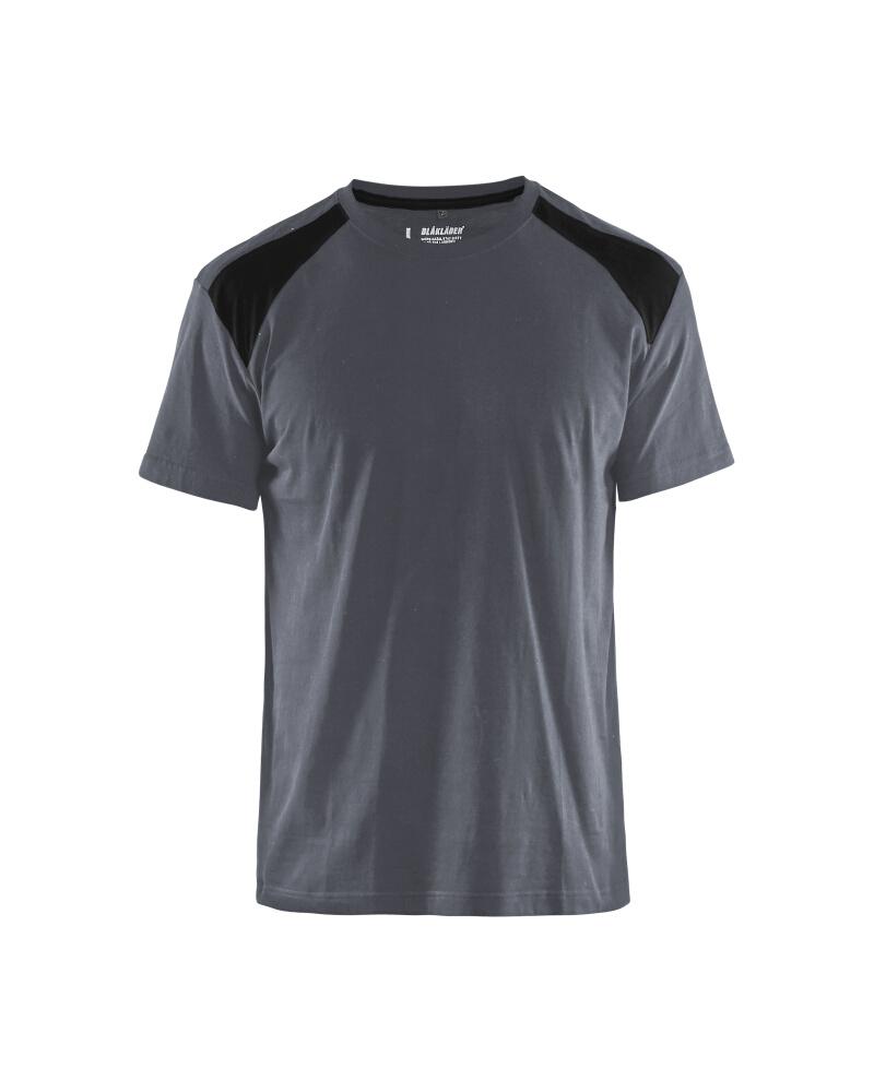 T-Shirt 2-färgad Blåkläder Grå/Svart