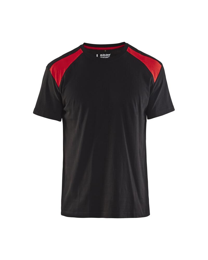 T-Shirt 2-färgad Blåkläder Svart/Röd