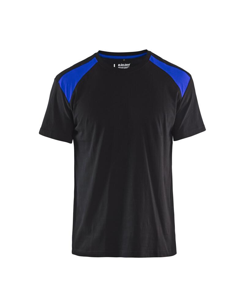 T-Shirt 2-färgad Blåkläder Svart/Kornblå