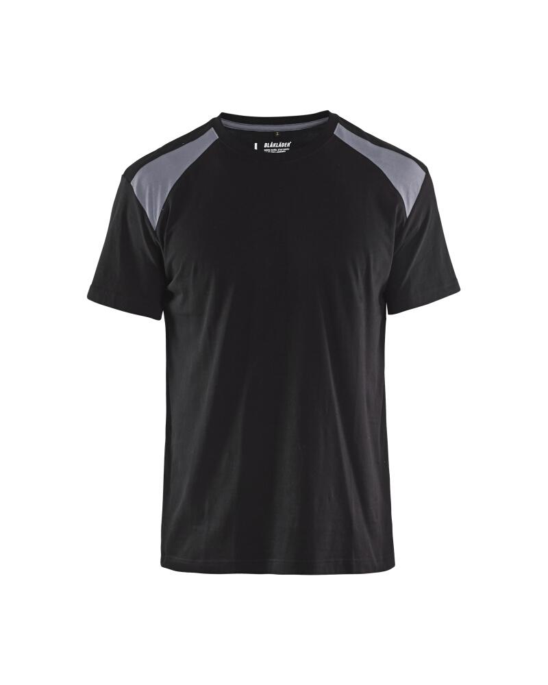 T-Shirt 2-färgad Blåkläder Svart/Grå