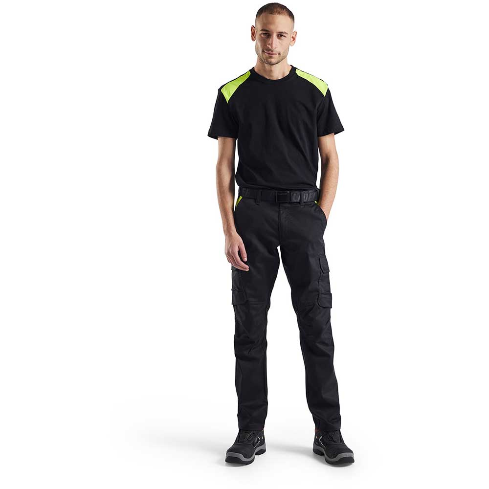 T-Shirt 2-färgad Blåkläder Black/Mid grey
