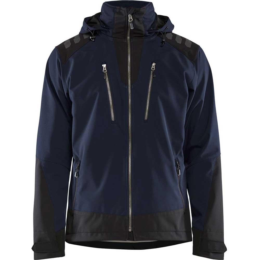 Softshelljacka Blåkläder Mörk marinblå/Svart