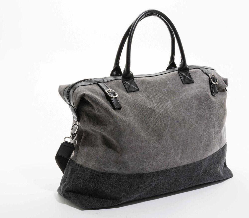Tvåfärgad rymlig väska