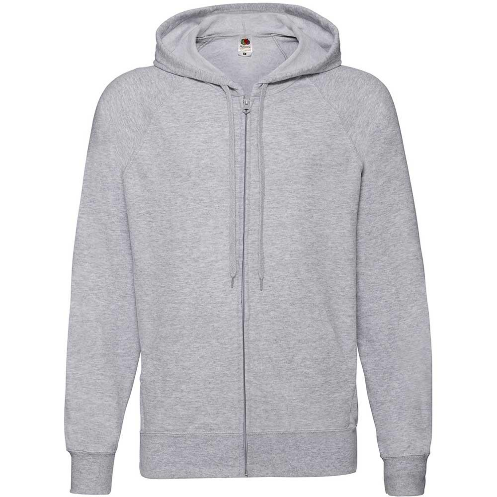 Lightweight Hooded Sweat Jacket  Heather Grey