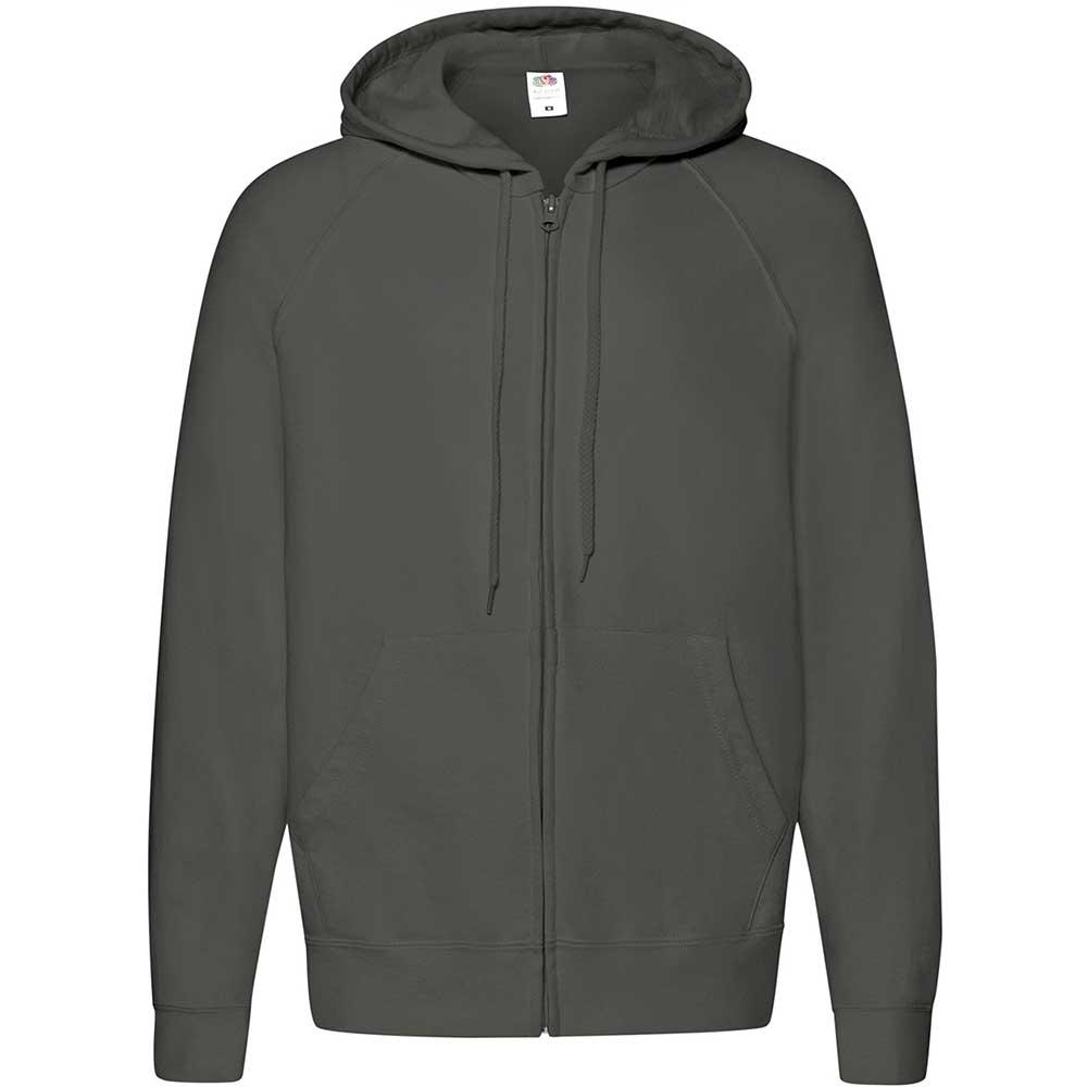 Lightweight Hooded Sweat Jacket  Light Graphite