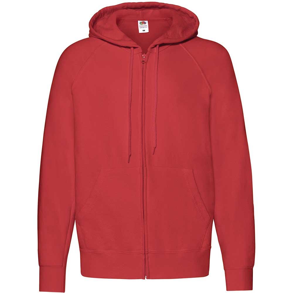 Lightweight Hooded Sweat Jacket  röd