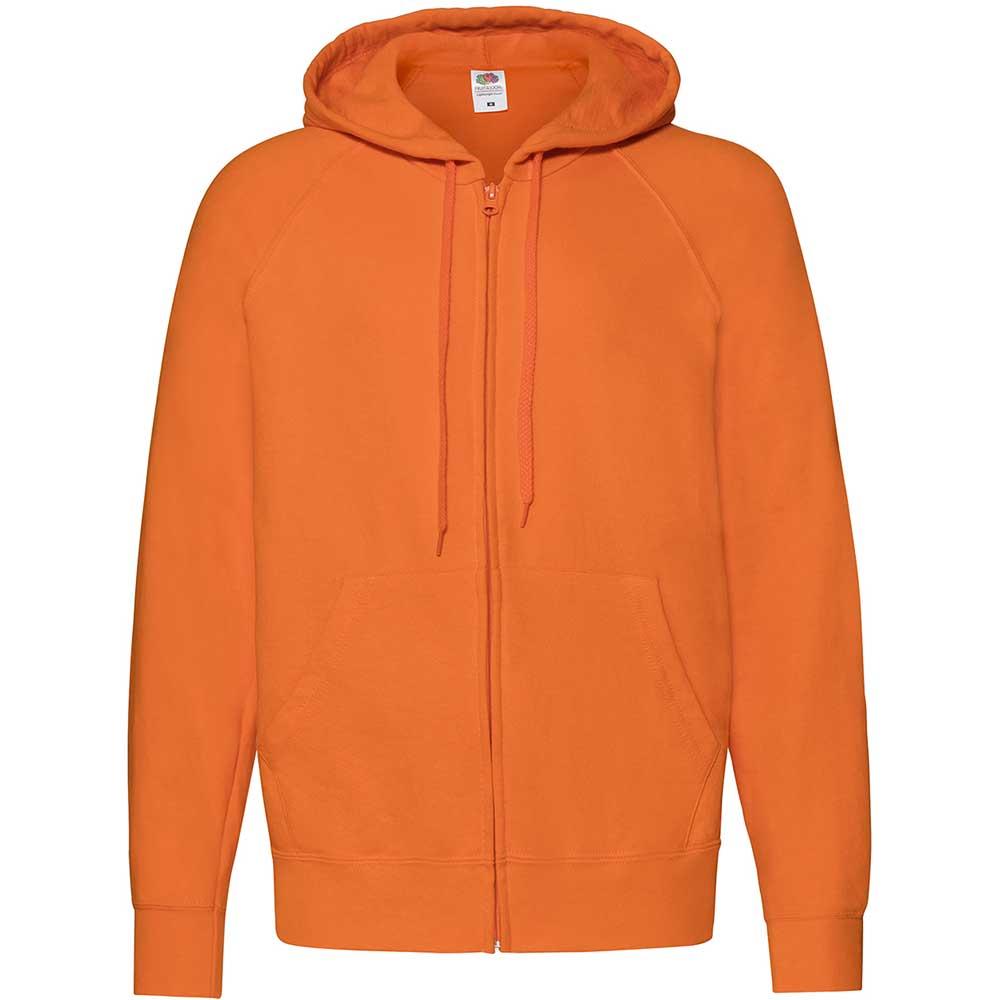 Lightweight Hooded Sweat Jacket  Orange