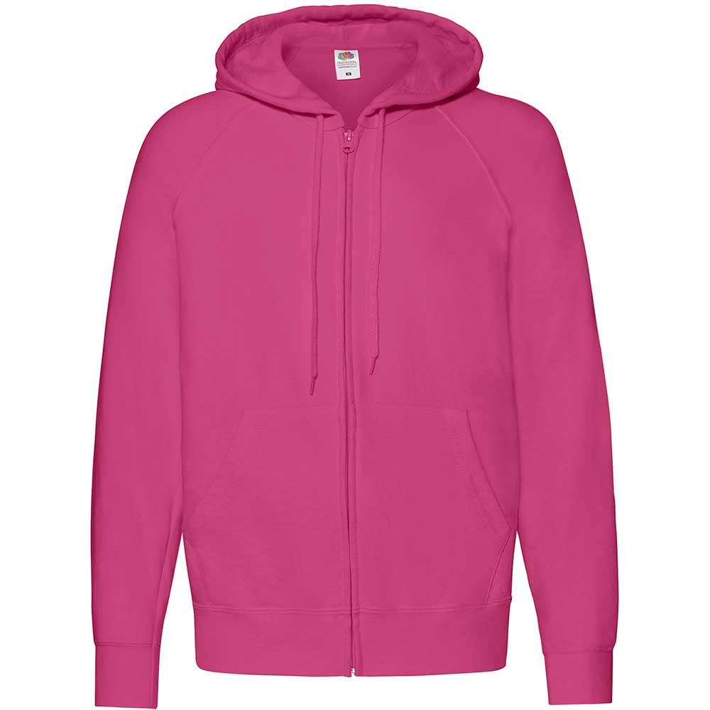 Lightweight Hooded Sweat Jacket  Fuchsia