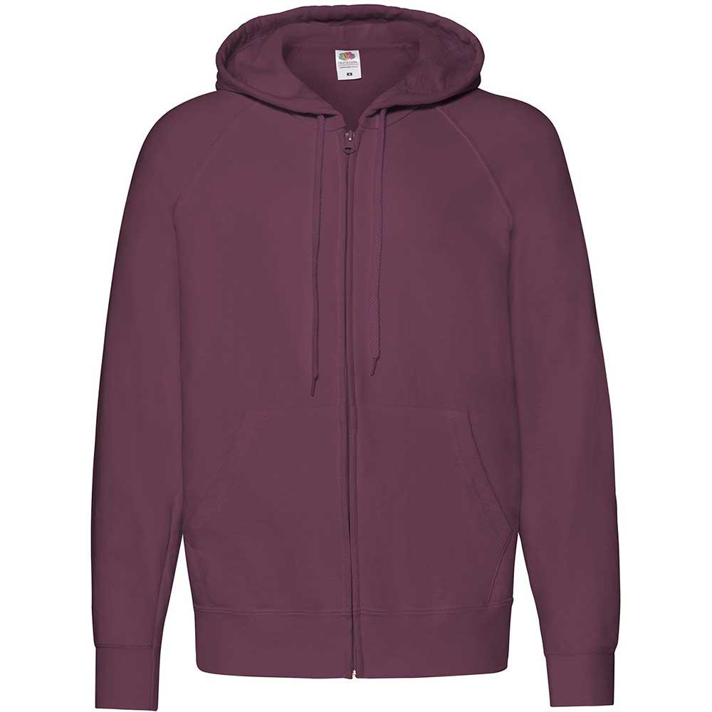 Lightweight Hooded Sweat Jacket  Burgundy