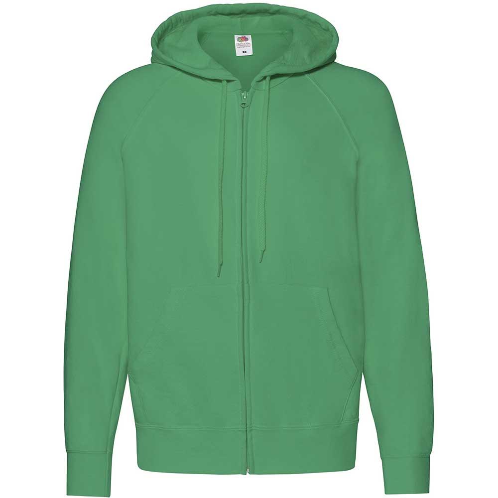 Lightweight Hooded Sweat Jacket  Kelly Green
