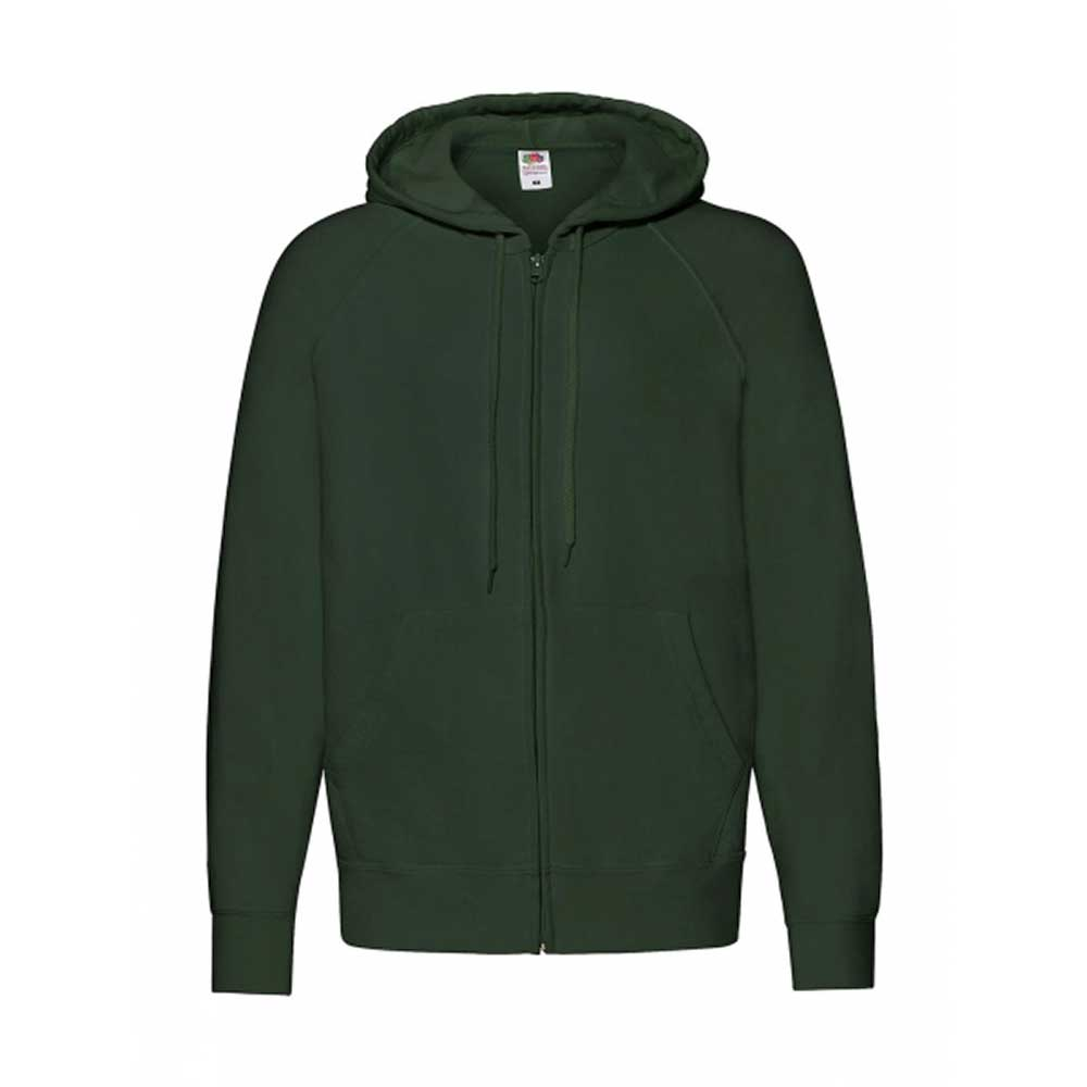 Lightweight Hooded Sweat Jacket  Bottle Green