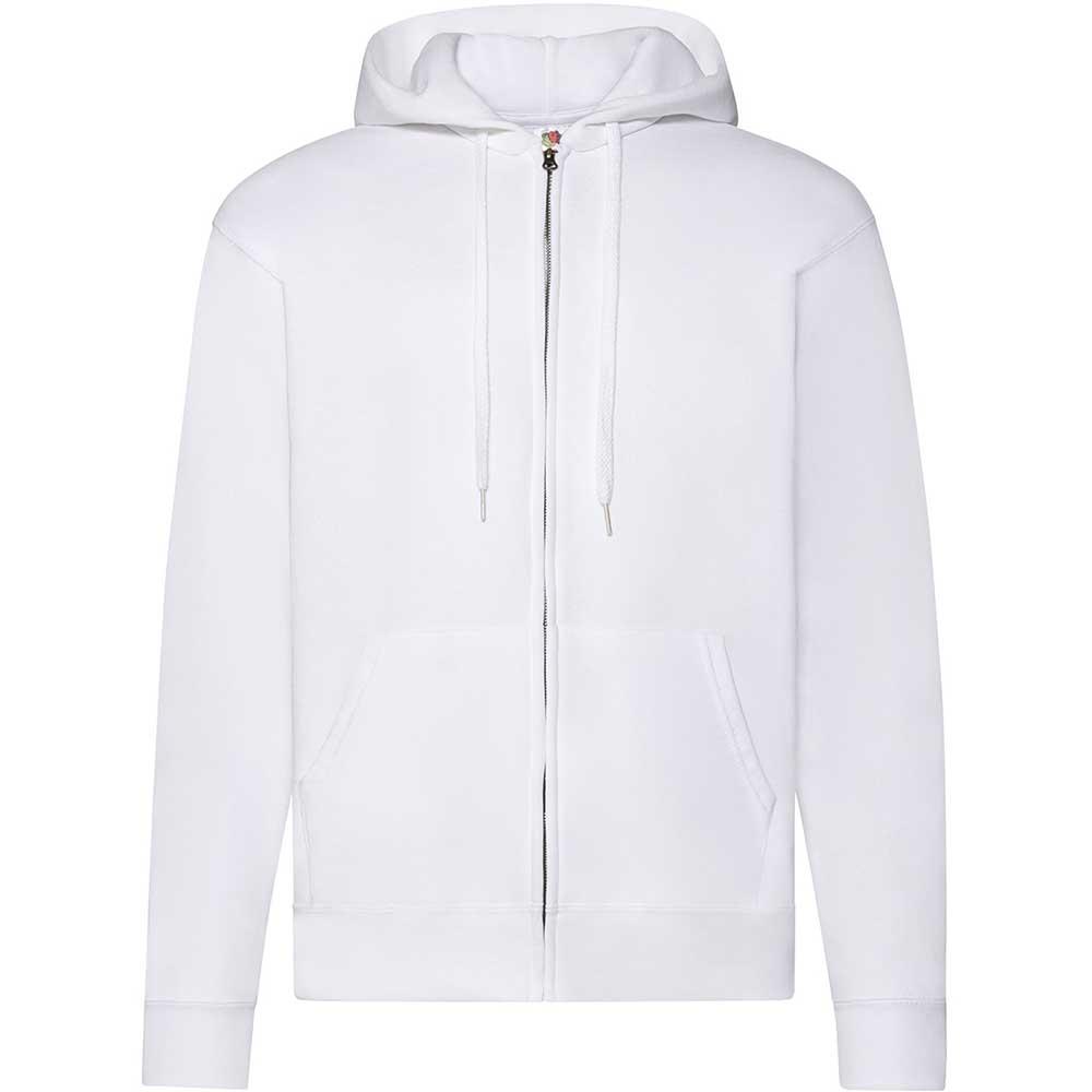 Classic Hooded Sweat Jacket vit