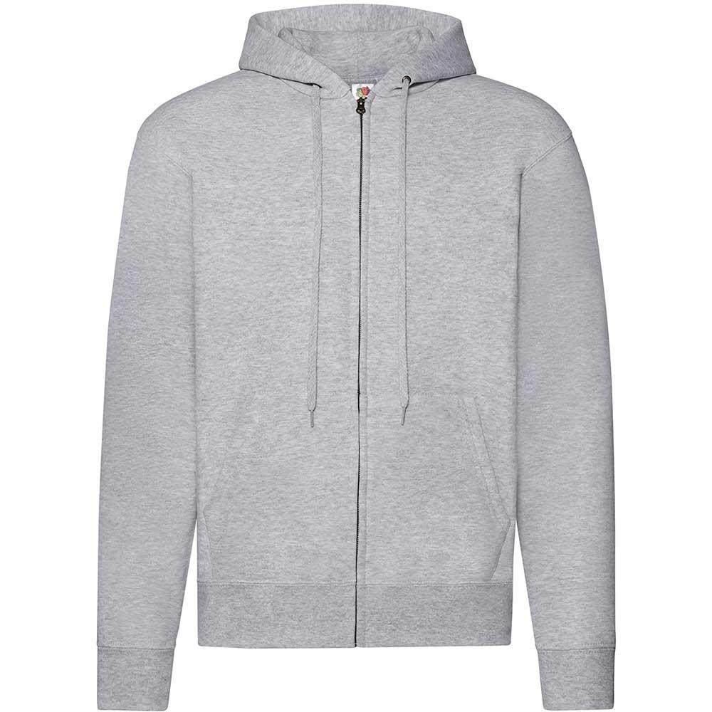Classic Hooded Sweat Jacket Heather Grey