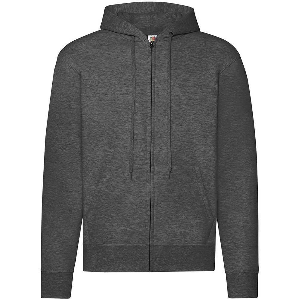 Classic Hooded Sweat Jacket Dark Heather Grey