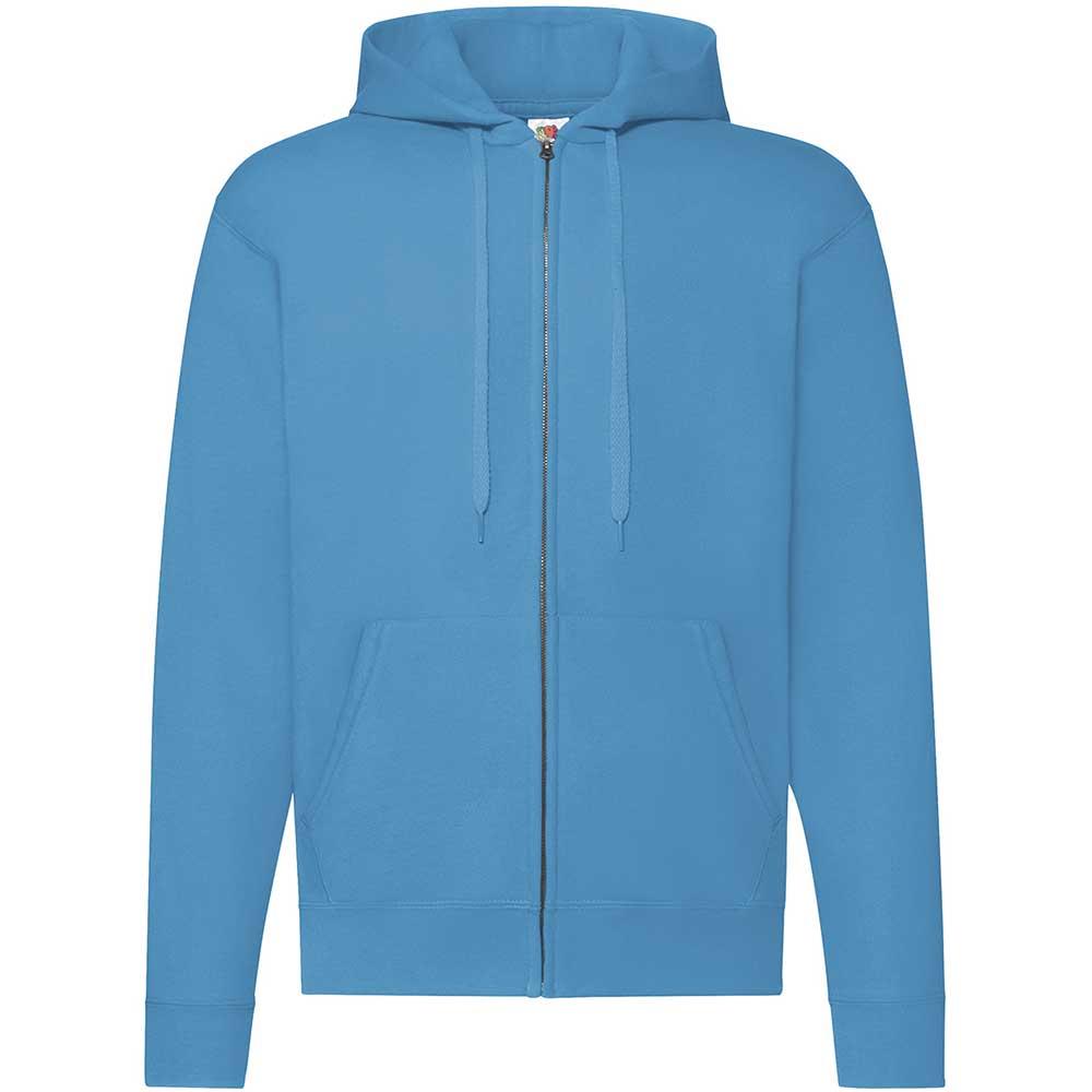 Classic Hooded Sweat Jacket Azure Blue