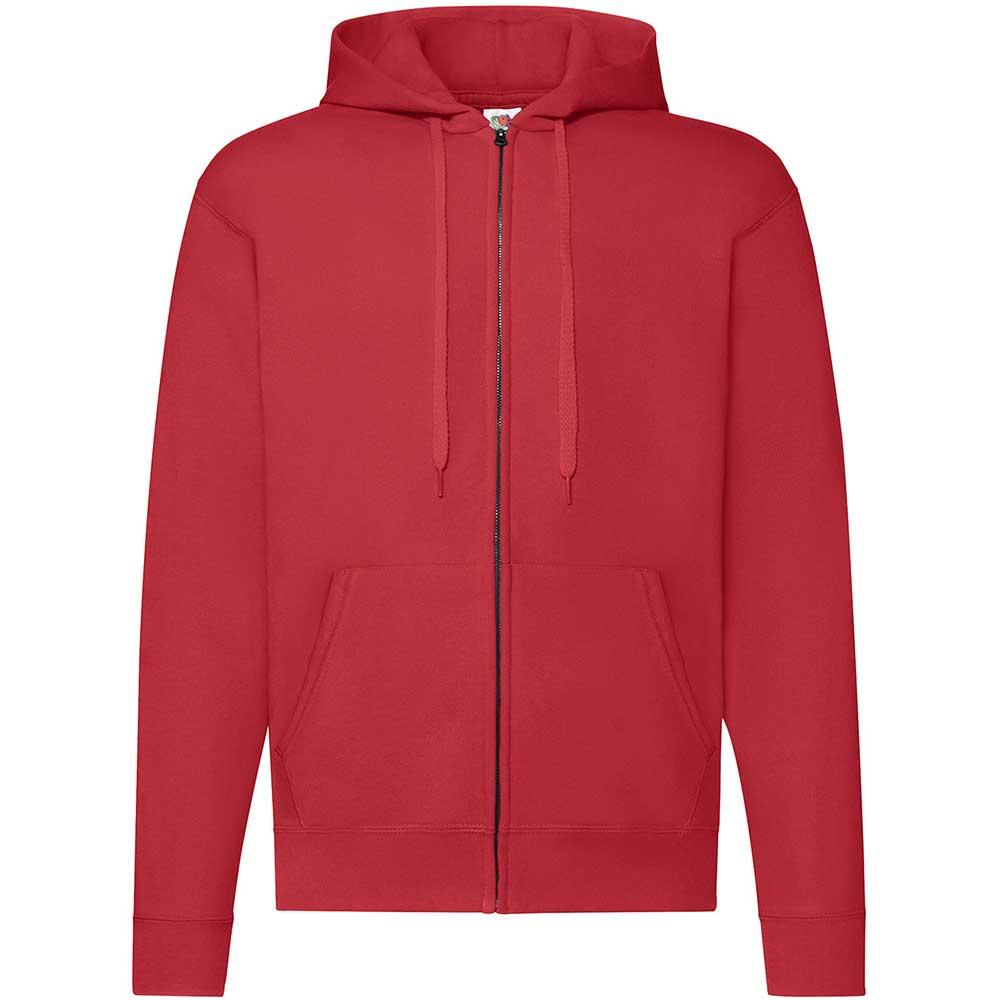Classic Hooded Sweat Jacket röd
