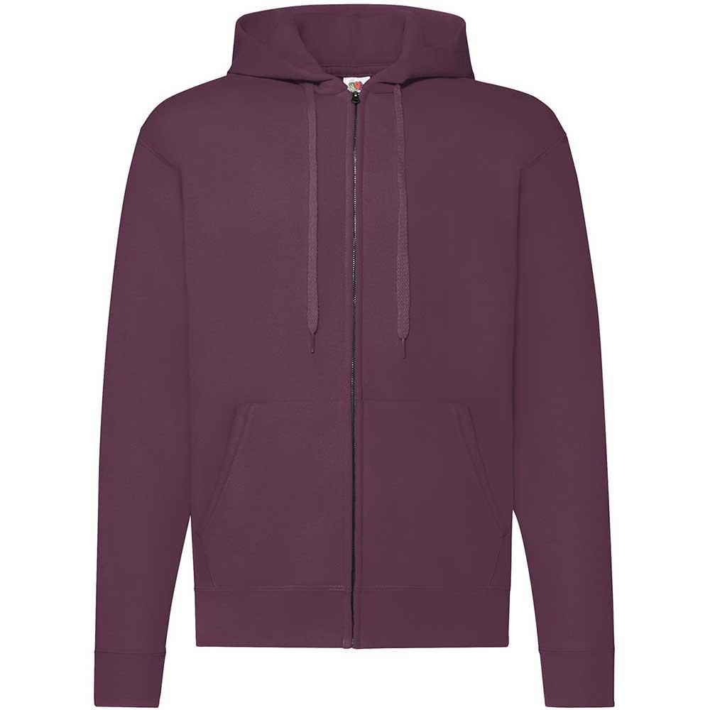 Classic Hooded Sweat Jacket Burgundy