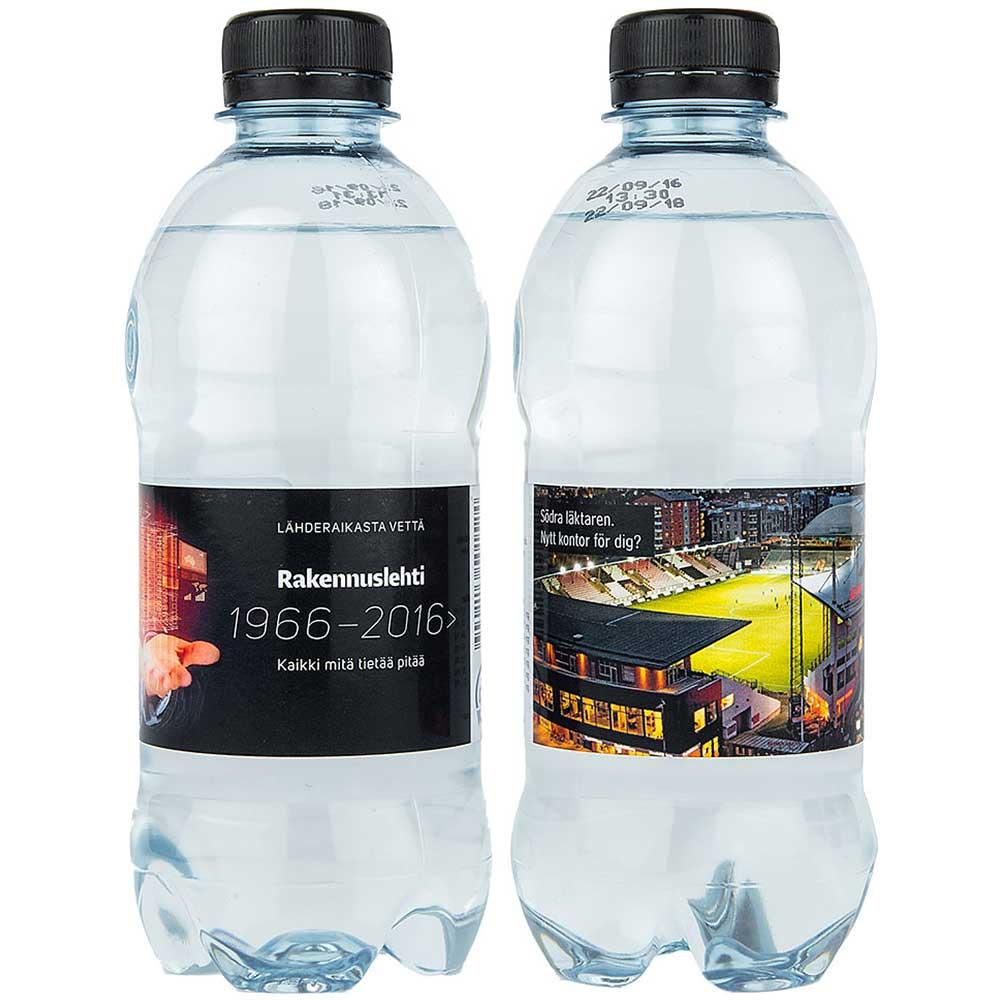 Vatten kolsyrat 35cl med egen etikett svart