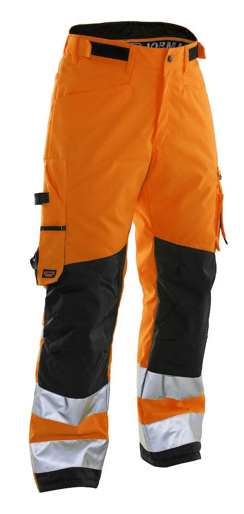 Hantverksbyxa vinter orange/svart