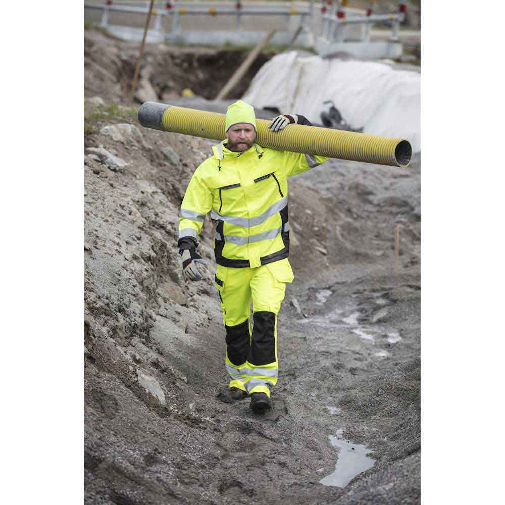 Hantverksbyxa Varsel Practical gul/marin