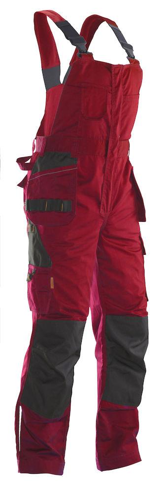Hängselbyxa Practical röd/svart