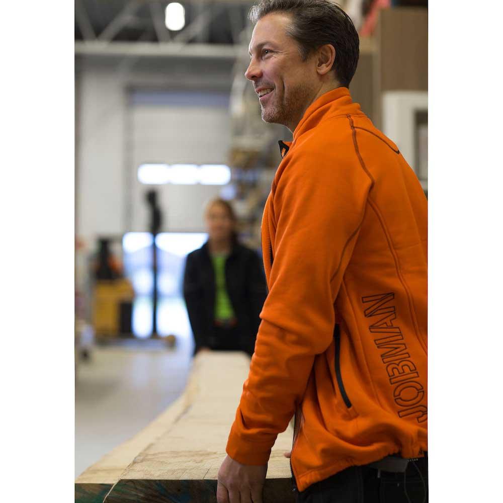 Funktionsjacka Jobman oceanblå/orange