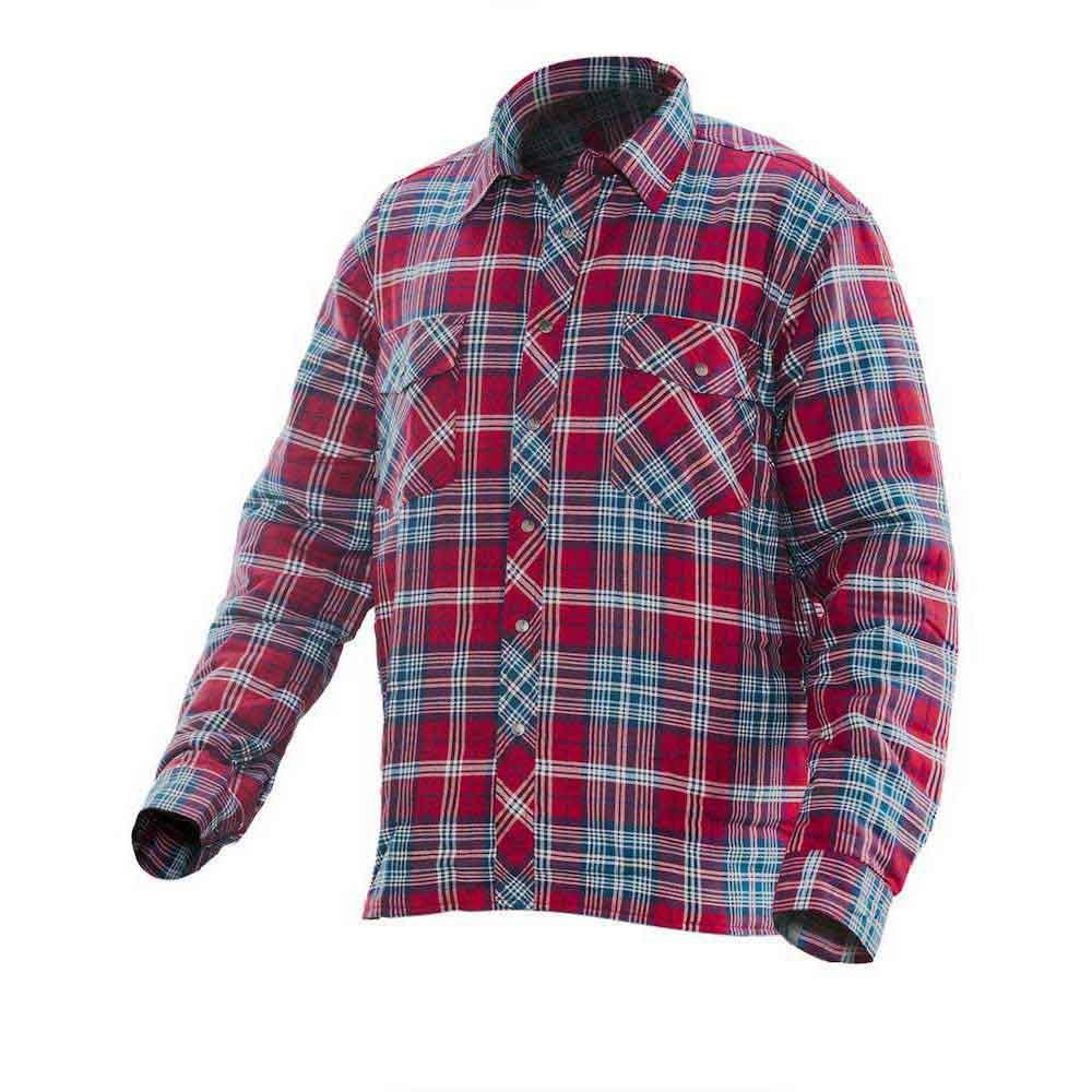 Flanellskjorta Quiltfodrad röd/petrol