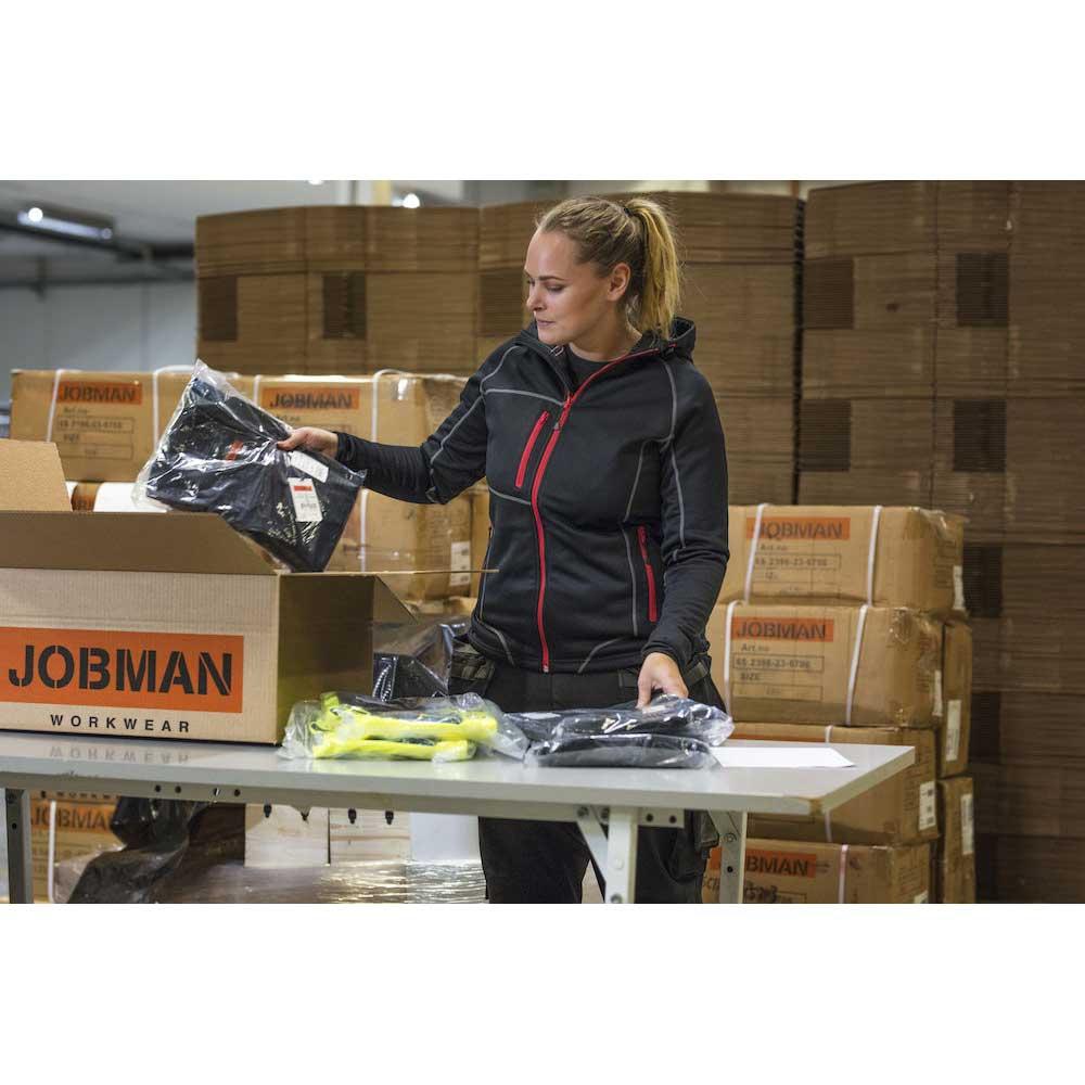 Hoodie Jobman Dam mörkgrå/orange