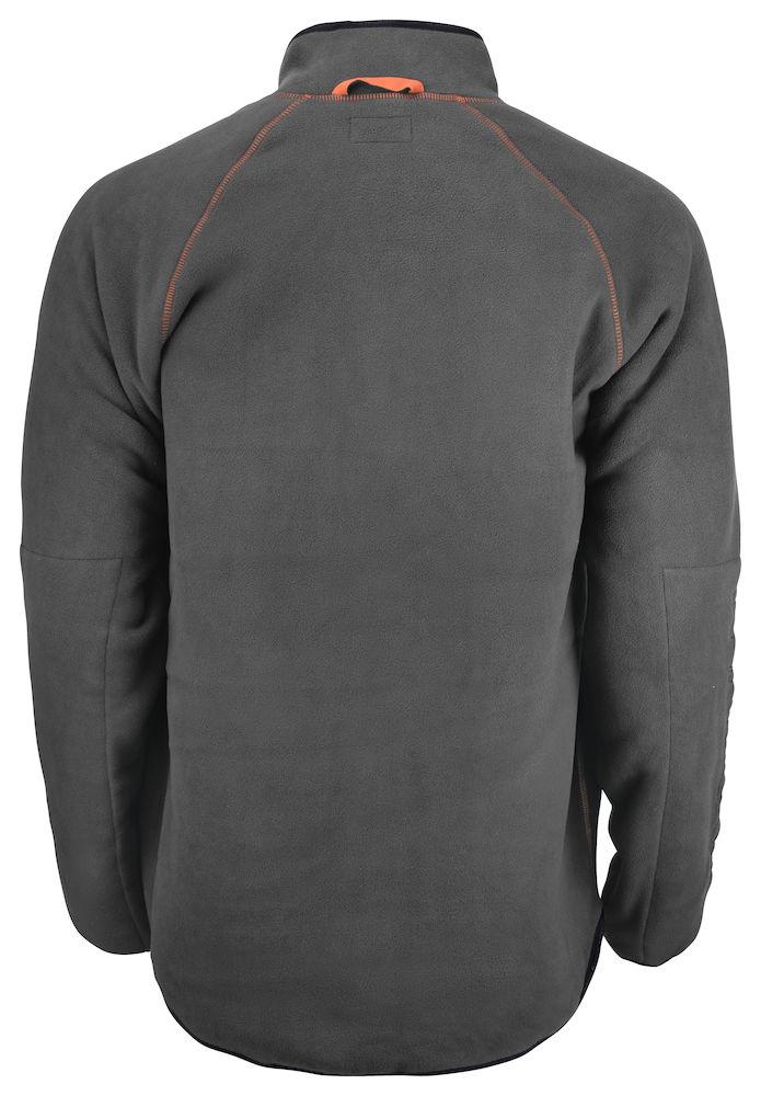 Pälsfiberjacka Jobman mörkgrå/orange
