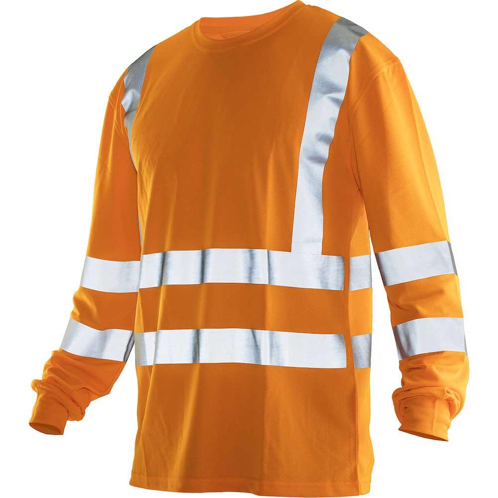 Långärmad T-shirt Varsel kl. 2/3 orange