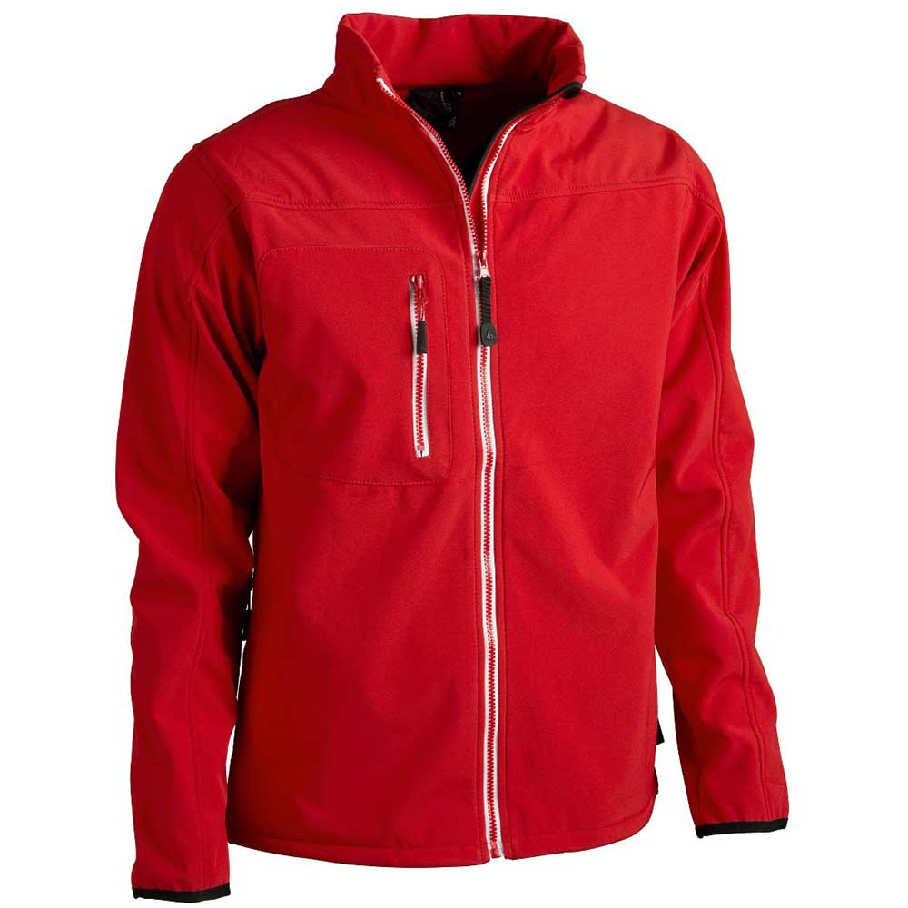 Mens Softshell jacket röd