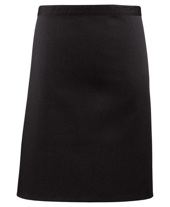 Mid-length apron Premier Svart