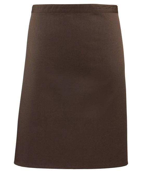 Mid-length apron Premier brown
