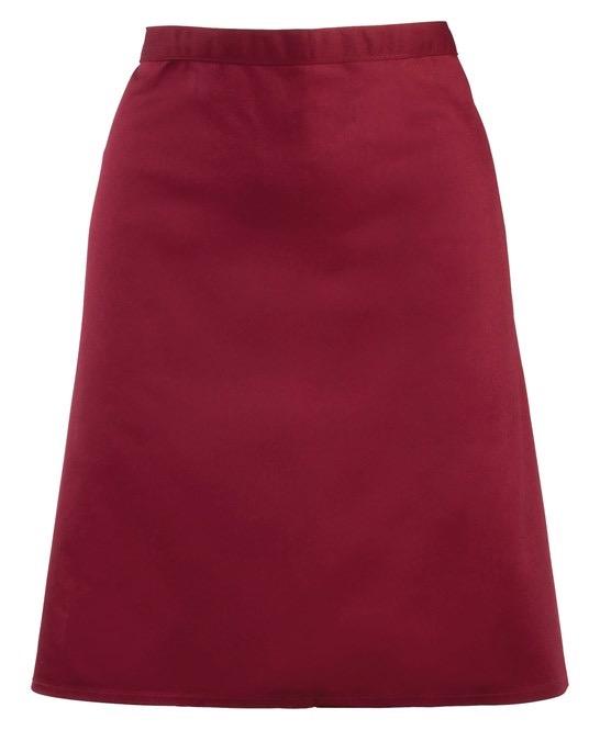 Mid-length apron Premier burgundi