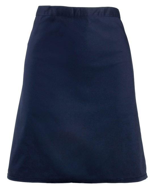 Mid-length apron Premier navy