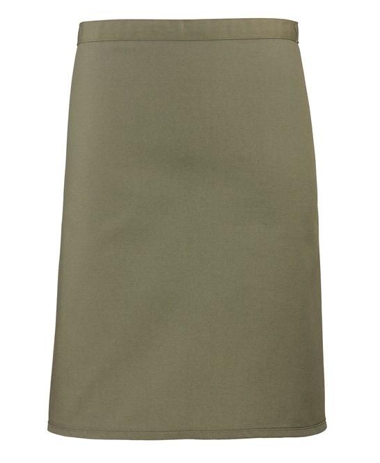 Mid-length apron Premier olive