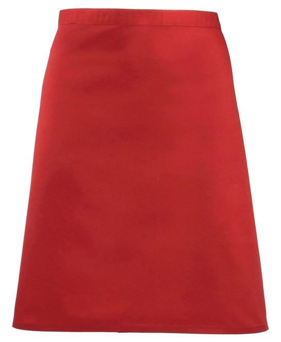Mid-length apron Premier red