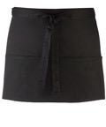 Colours 3-pocket apron svart
