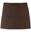 Colours 3-pocket apron brown