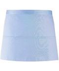 Colours 3-pocket apron light blue