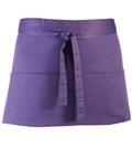 Colours 3-pocket apron purple