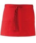 Colours 3-pocket apron red