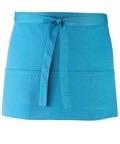 Colours 3-pocket apron turquoise