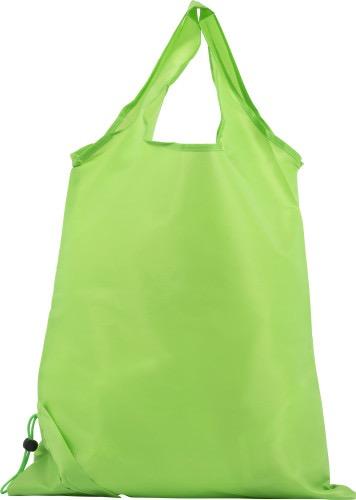 Vikbar shoppingkasse i polyester ljusgrön