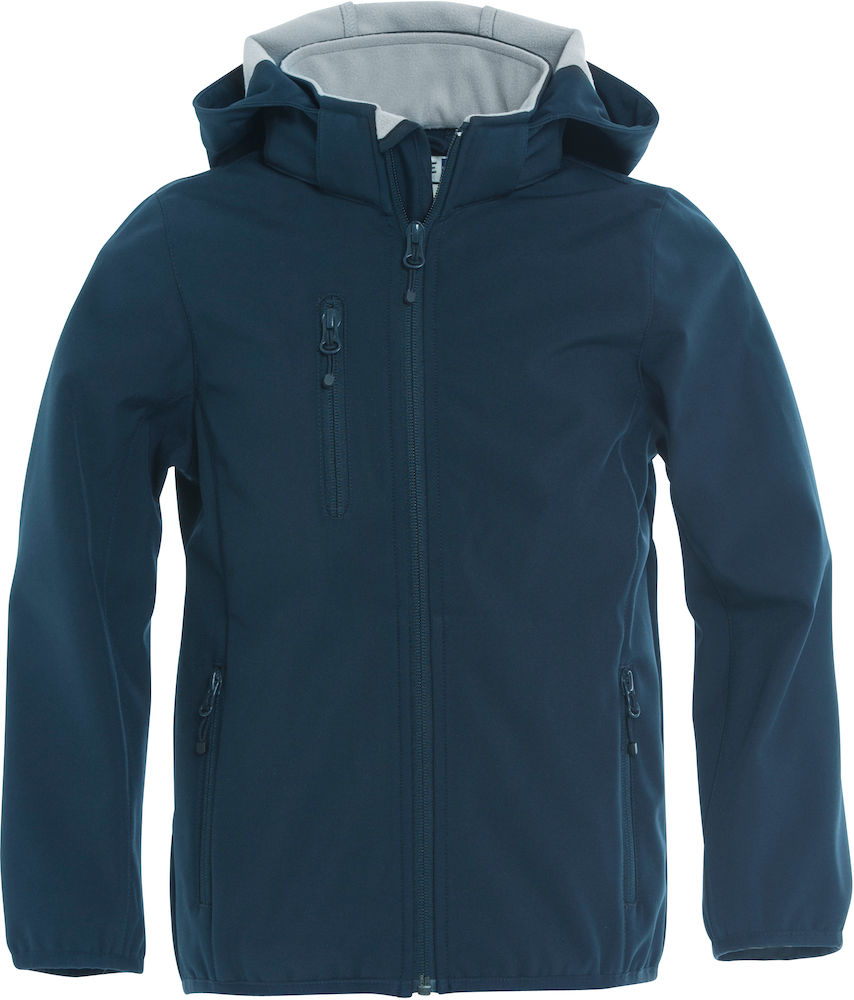 Basic Softshell Jacka Jr mörk marin