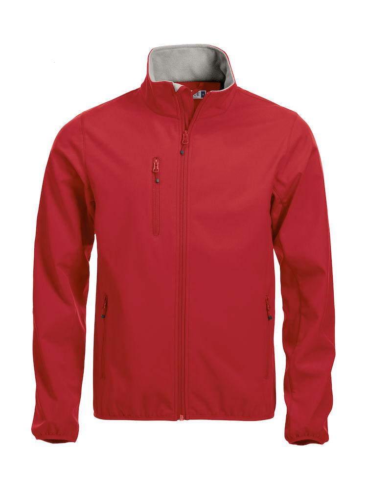 Basic Softshell Jacka röd