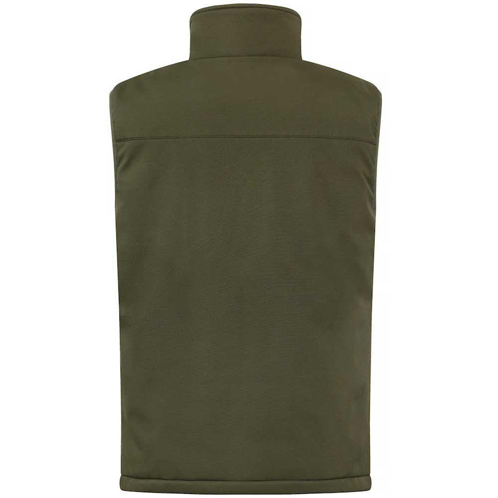 Padded Softshell Vest Mens Dimgrön