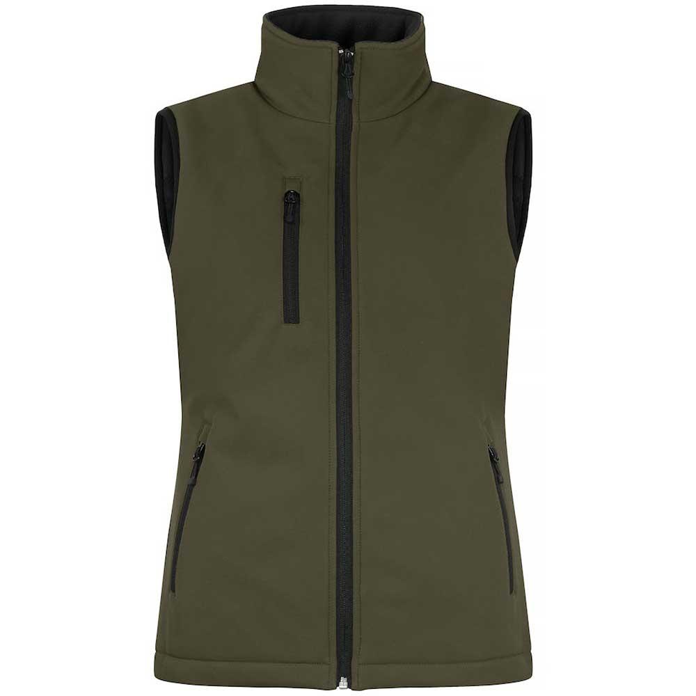 Padded Softshell Vest Ladies Dimgrön