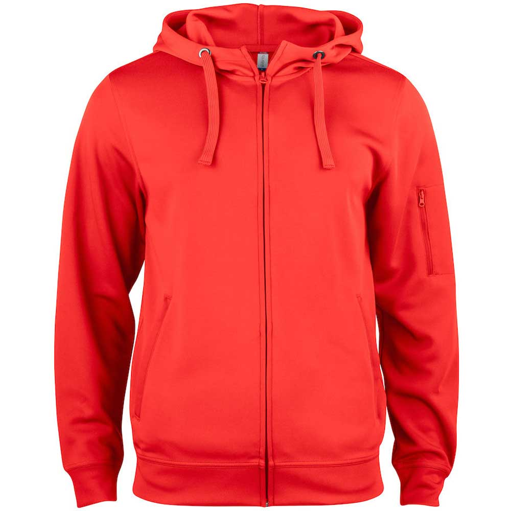 Basic Active Hoody Full Zip röd